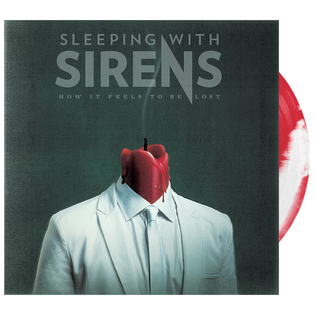 Sleeping With Sirens - 'How It Feels to Be Lost' Neon Red / White Side AB Vinyl