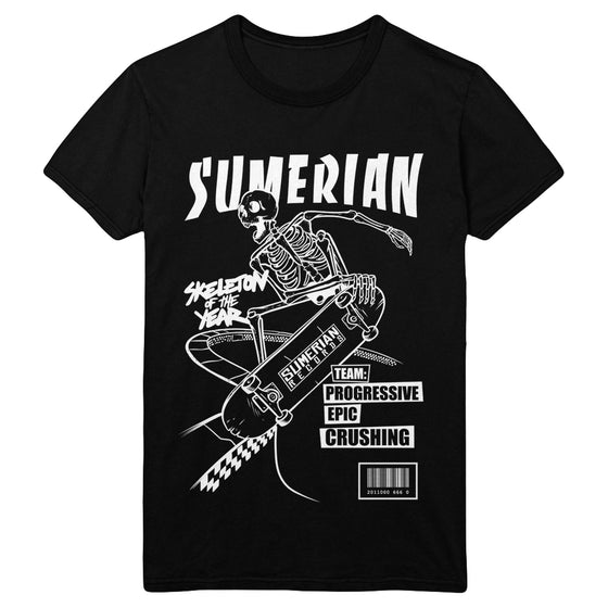 Sumerian Skater T-Shirt (White/Black)