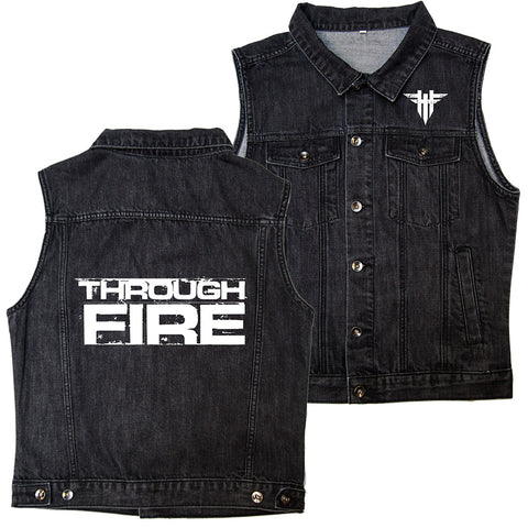 Through Fire - Vintage Black Vest