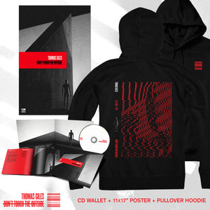 Thomas Giles - 'Don't Touch The Outside' Red Static Pullover Hoodie Pre-Order Bundle