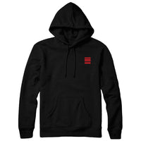 Thomas Giles - Red Static Pullover Hoodie