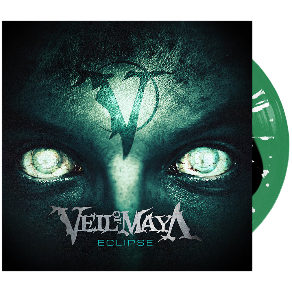 Veil Of Maya - 'Eclipse' Black Inside Trans Green w/ White Splatter Vinyl