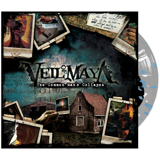 Veil Of Maya - 'The Common Man's Collapse' Black Inside Clear w/ Blue & White Splatter Vinyl
