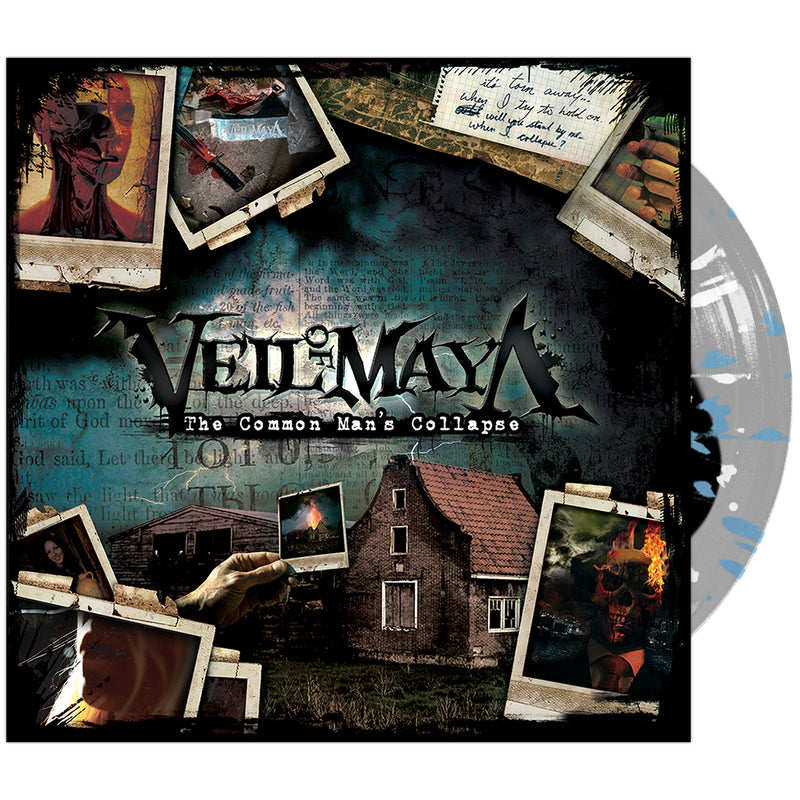 Veil Of Maya - 'The Common Man's Collapse' Black Inside Clear w/ Blue & White Splatter Vinyl Pre-Order
