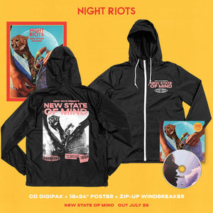 Night Riots - 'New State of Mind' Album Art Windbreaker Pre-Order Bundle