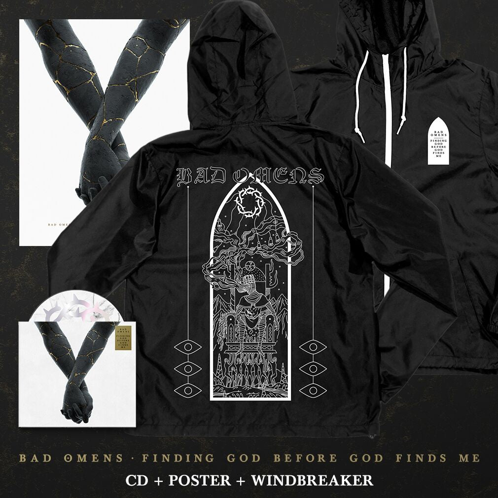 Bad Omens - 'Finding God Before God Finds Me' Dethrone Windbreaker Pre-Order Bundle