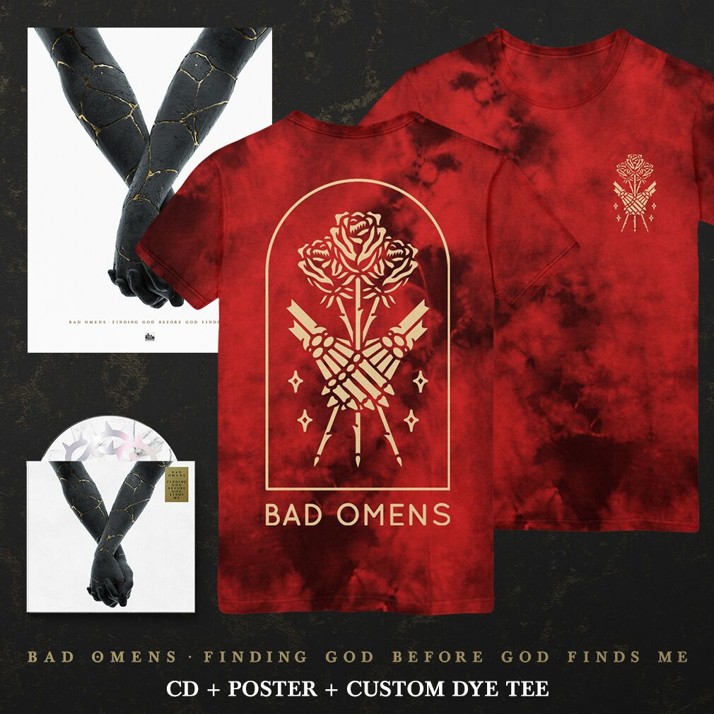 Bad Omens - 'Finding God Before God Finds Me' Lovers Red Wash Tee Pre-Order Bundle