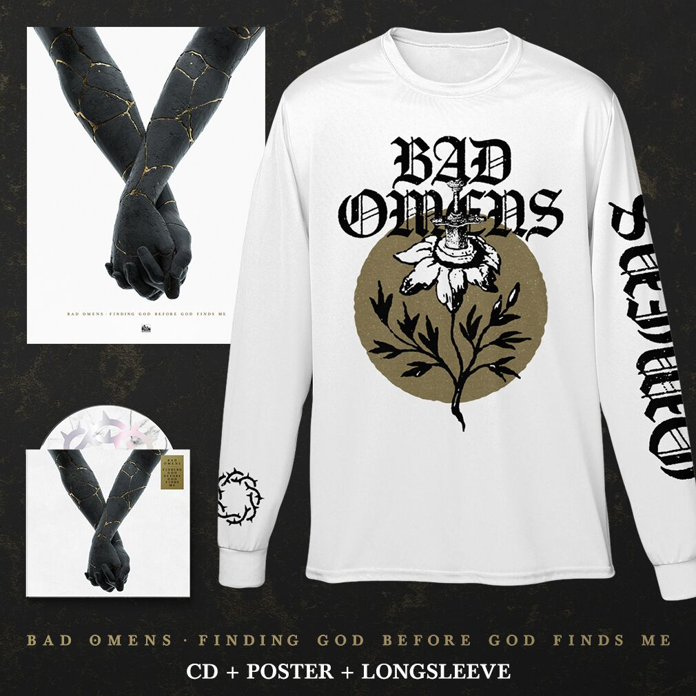 Bad Omens - 'Finding God Before God Finds Me' Sunflower Long Sleeve Pre-Order Bundle