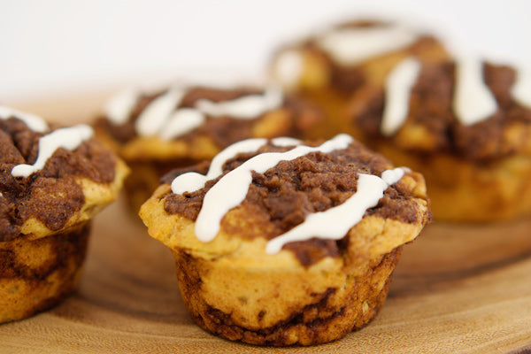 Gluten Free Cinnamon Roll Muffins with Tremella Mushroom