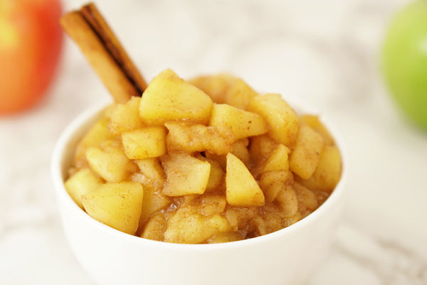 Spiced stewed apple sauce recipe simple easy delicious with Pearl powder beauty tonic herb for beautiful skin support minerals and calm energy