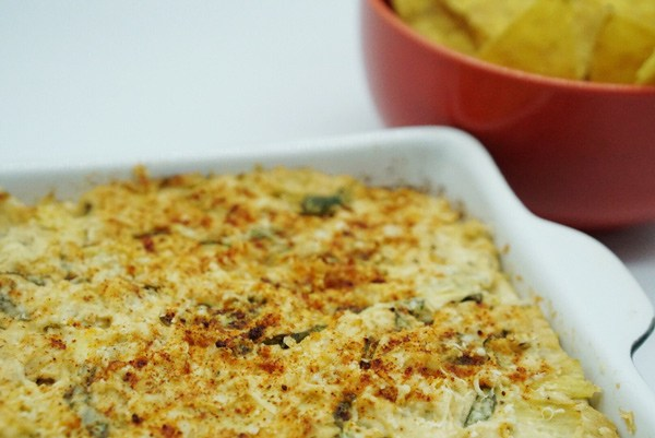 Baked Spinach & Artichoke Dip with Certified Organic Turkey Tail Superfood Medicinal Mushroom