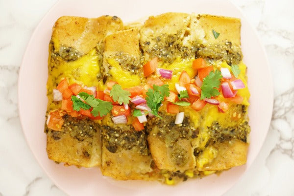 Chicken and Vegetable Mexican Enchiladas with Wild Siberian Chaga Mushroom medicinal superfood dual extract powder Gluten Free Dairy Free paleo recipe easy simple delicious