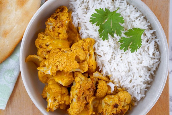 Creamy Cauliflower Curry with wild Siberian Chaga superfood medicinal Mushroom dual extract powder Vegan Gluten Free Paleo easy simple delicious recipe