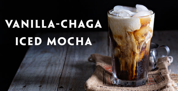 Vanilla Wild Chaga Superfood Medicinal Mushroom Iced Mocha Latte Recipe