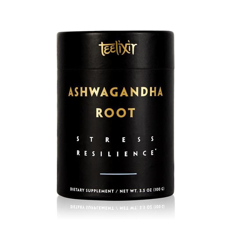 Teelixir Organic Ashwagandha Root Extract Powder 10:1 hot water, Ashwagandha extract adaptogens for stress relief, adaptogen supplements, adaptogenic herbs 3.5 oz 100 grams size 60 servings