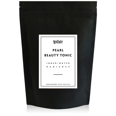 Teelixir Pearl Beauty Tonic hydrolysed levigated 10:1 extract powder highly bioavailable absorbable mineral and calcium supplement nourish skin hair nails inner outer glow hydration reduce stress calm the mind relax sleep better 1 kg 2.2 lb bulk