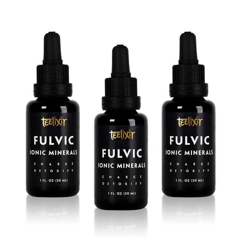 Teelixir Fulvic Acid Supplement Ionic Trace Minerals Blend Extract 3-Pack