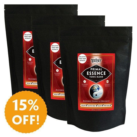 Primal Essence Jing Tonic Herb Extract Powder Blend - Recharge Your Battery Teelixir - Triple Pack 450g - 15% off discount no coupon code needed