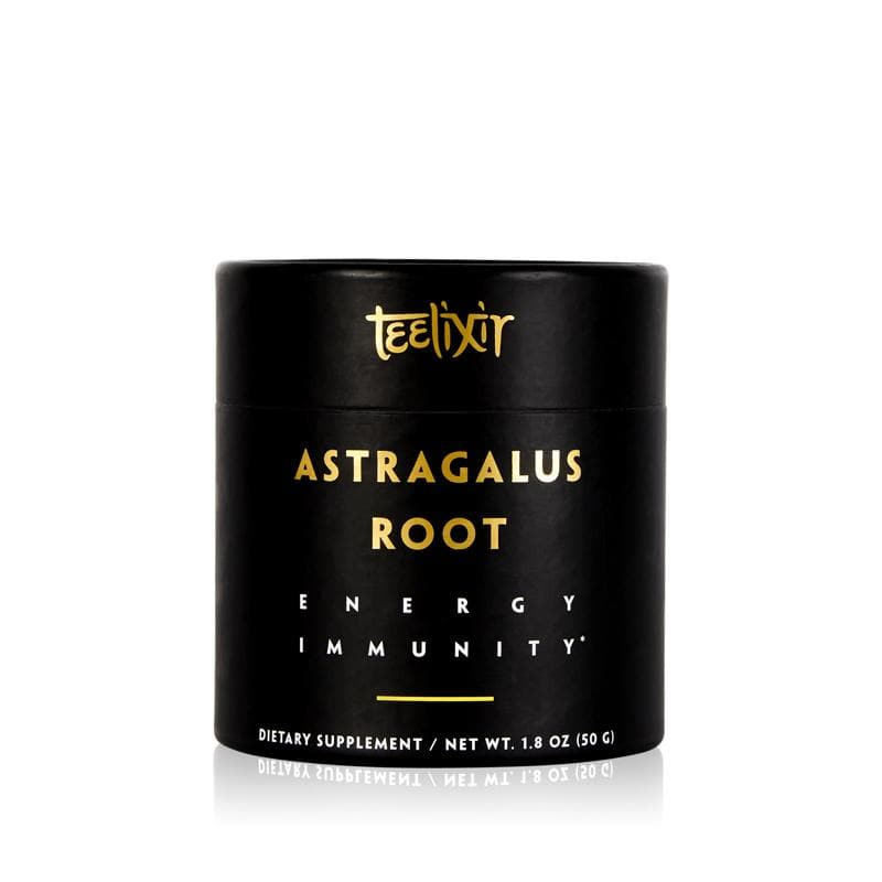 Teelixir Organic Wild Astragalus Root Tonic Herb Adaptogen 10:1 Dual Extract Powder Immediate Instant Energy Natural boost Lungs and Immunity Support Vegan Gluten Free Paleo Non GMO All Natural 50 Grams 1.8 oz