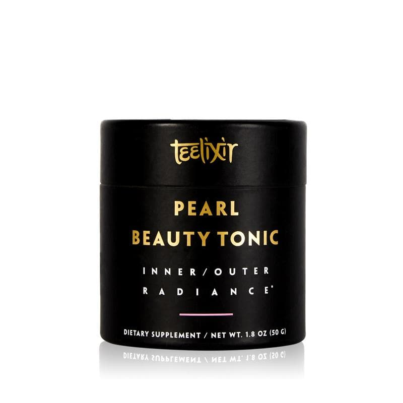Teelixir Pearl Beauty Tonic hydrolysed levigated 10:1 extract powder highly bioavailable absorbable mineral and calcium supplement nourish skin hair nails inner outer glow hydration reduce stress calm the mind relax sleep better