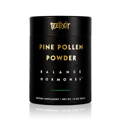 Teelixir Wild Raw Pine Pollen Superfood Powder - Increase Energy, Balance Hormones All Natural Androgens source, Nourish Skin and Beauty Health Improve libido sex drive vegan paleo gluten free keto 50 grams 1.8 oz