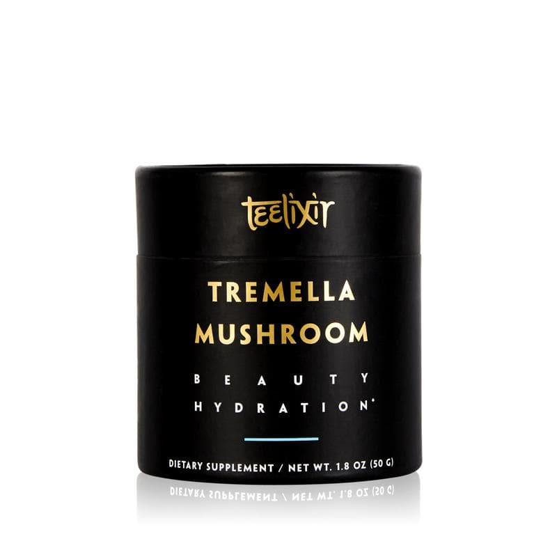Teelixir Tremella fuciformis superfood medicinal Mushroom 10:1 Extract Powder - tonic herb adaptogen Nature's Beauty Secret for healthy natural glow dewy youthful beautiful looking skin health antioxidant boost vegan collagen hyaluronic acid alternative substitute face mask lifestyle simple easy how to use topical formula