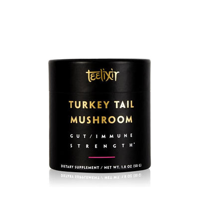 Teelixir Australian certified organic wild wildcrafted Turkey Tail trametes coriolus versicolor superfood medicinal mushroom dual extract powder for better digestion gut and immune health benefits vegan gluten free paleo non gmo 50 g 1.8 oz