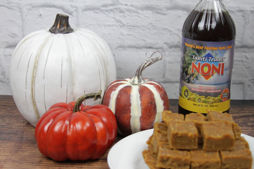 Peanut Butter Noni Pumpkin Fudge