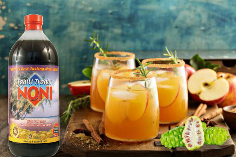 Tahiti Trader Noni Apple Cider for Fall! Serve Hot or Cold!