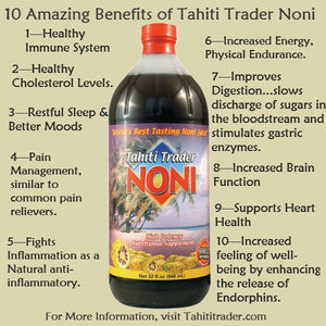 10- Amazing Benefits of Tahiti Trader Noni Juice