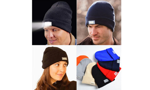 Unisex Flash Light Beanie Winter Hat