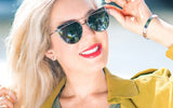 Cat Eye Mirrored Women's Sunglasses