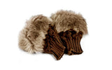 Fingerless Faux Fur Fashion Gloves in Choice of Colour