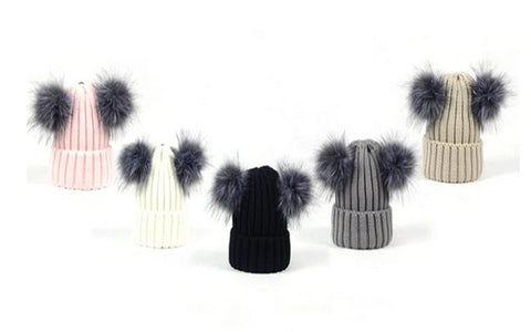 Double Pom-Pom Winter Hats