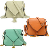 Envelope Tassel Cross Body Handbag