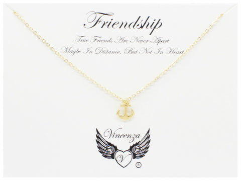 Gold Friendship Inspirational Necklace