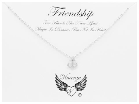 Silver Friendship Inspirational Necklace