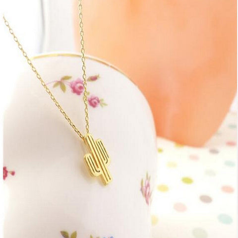 Summer Pear Cactus Pendent Necklace