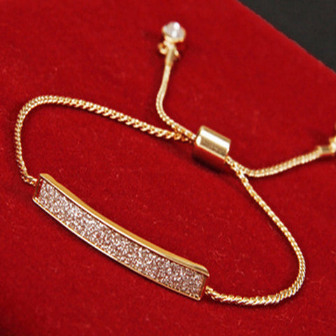 Gold Tie Crystal Bangle