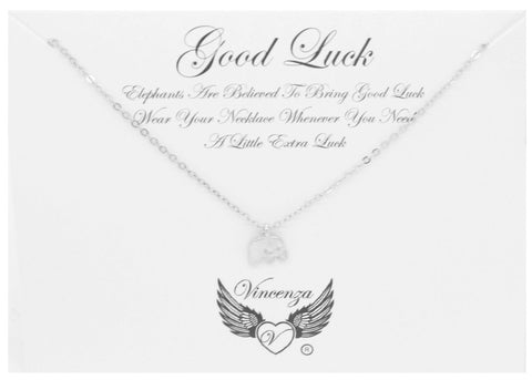 Silver Good Luck Inspirational Necklace