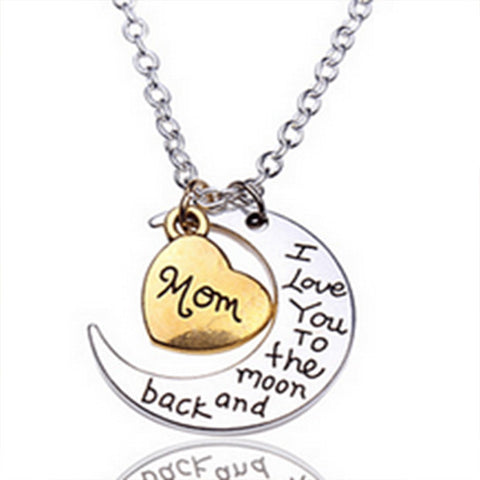 4ce4e8155d Mom I Love You To The Moon And Back Necklace – Marcus Emporium