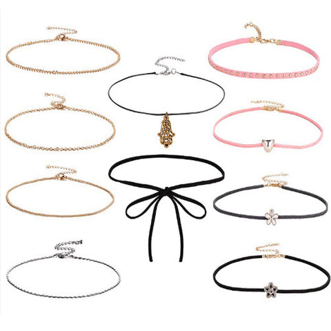 Assortment 10 Piece Choker Set
