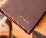 Fuerdanni Men's Leather Brown Wallet