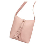 Leather Tassel Cross Body Shoulder Bag