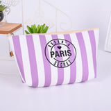 AK Collection Stripe Cosmetic Make Up Bag