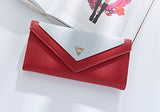 Two Tone Envelope Clutch Wallet