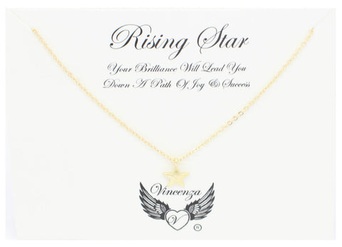 Gold Rising Star Inspirational Necklace
