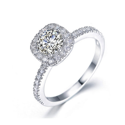 Crystal Solitaire Engagement Ring