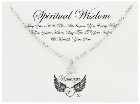 Silver Spiritual Wisdom Inspirational Necklace