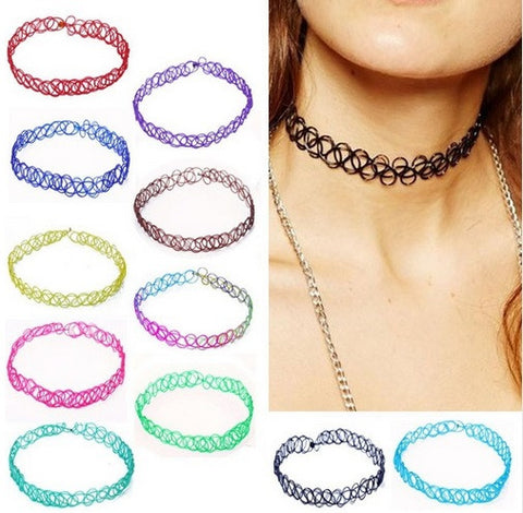 Tattoo Choker Available In A Variety of Colors